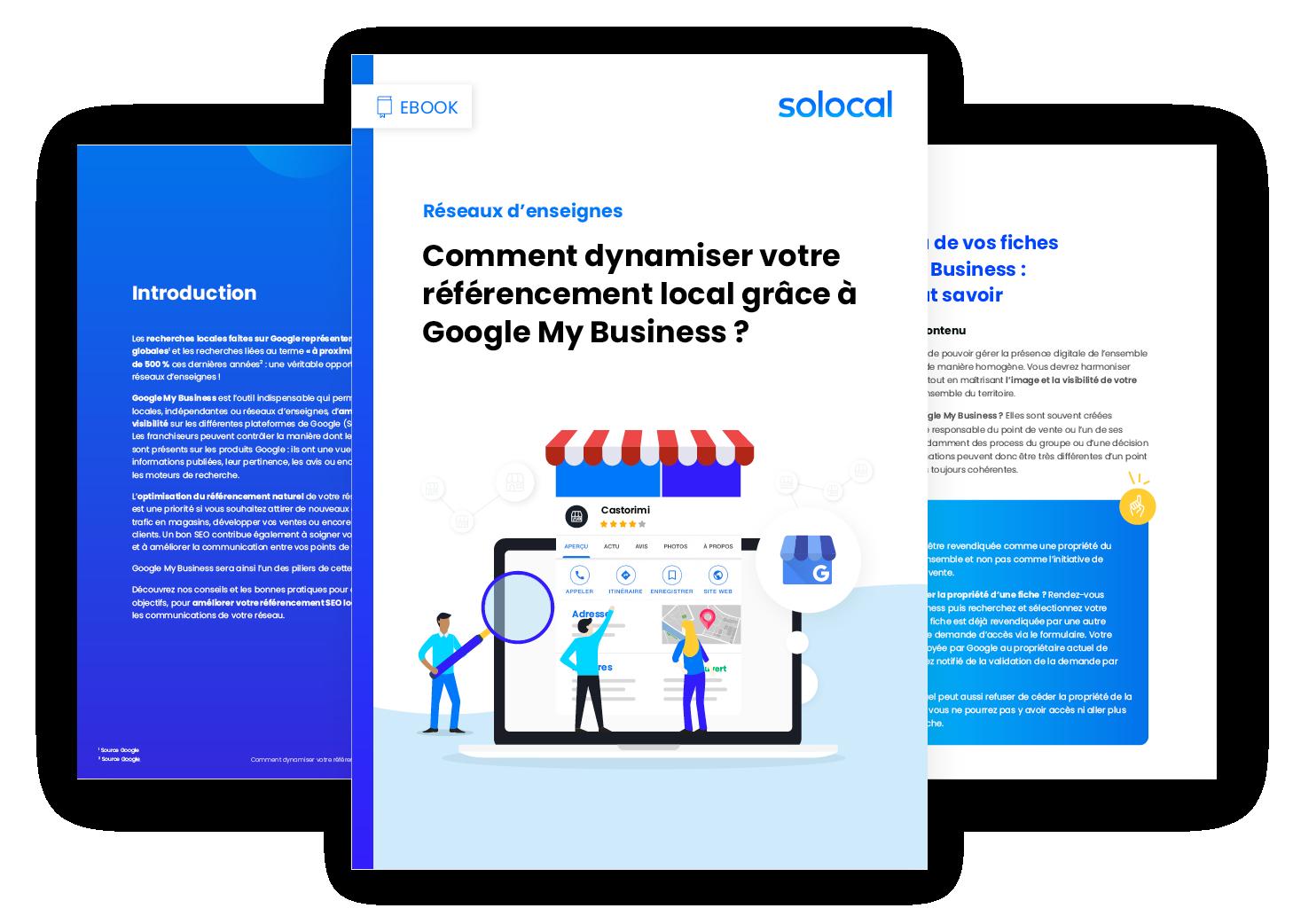 Téléchargez le ebook Solocal pour optimiser le référencement local de votre réseau d'enseignes